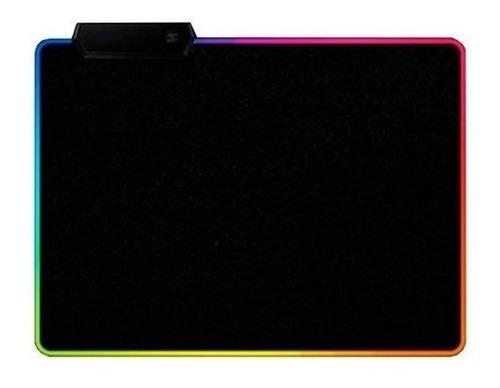 Mousepad Gamer Led Rgb Usb 35x25cm Negro