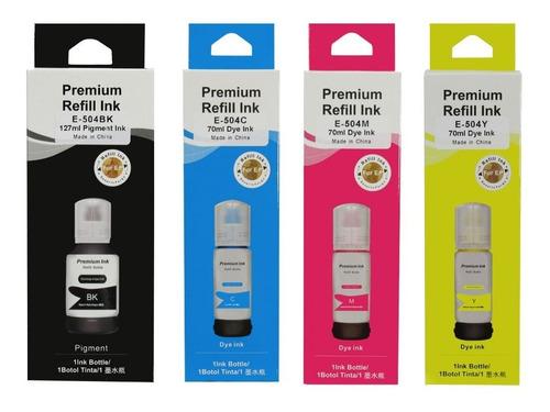 Imagen 1 de 1 de Kit 4 Tintas Compatibles Epson T504 T544 L4160 4160 3160 311