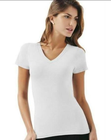 Camiseta Feminina 100% Algodão Penteado-kit 10 Peças