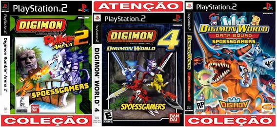 Digimon World Ps2 Coleção (3 Dvds) Patch Infantil Me