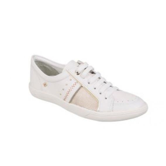 Tenis Cravo Canela 138612-1 - Branco - Delabela Calçados
