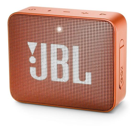 Caixa De Som Bluetooth Jbl Go 2 À Prova Dágua 3w Laranja
