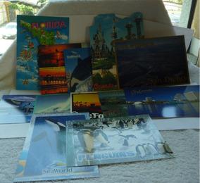 Lote Com 12 Cartões Postais Dos Eua