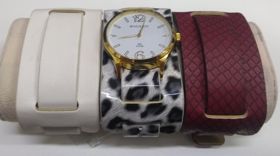Relógio Backer Troca Pulseiras 3203142f Lindo De Vitrine
