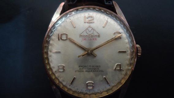 Relógio Mondaine Ancre A Corda Funcionando Coleção Ou Uso