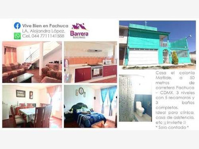 Casa Sola En Venta Casa En Colonia Matilde A 50 Metros De La Carretera Pachuca - Cdmx