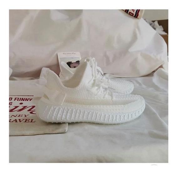 Tenis Mujer Deportivos-comodos Sneakers Blancos