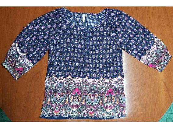 Camisola Azul Oscuro Estampada Talle S Erin Love