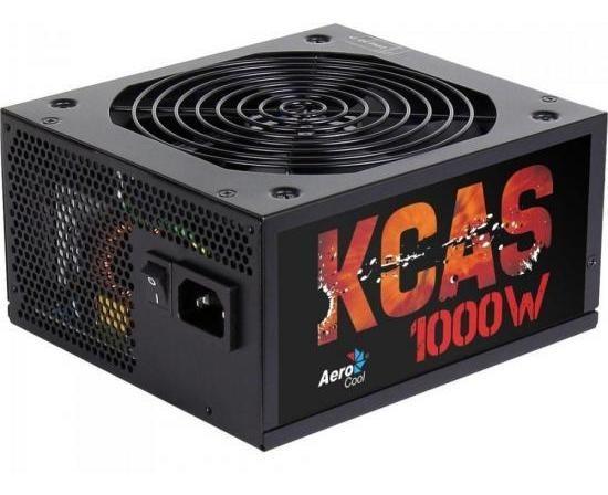 Fonte Atx 1000w Real Aerocool Kcas 80p Bronze Semi-mod