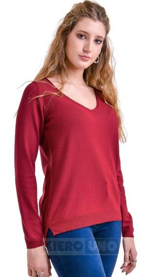 Sweater Liviano Suave Saco Mujer Escote En V Kierouno