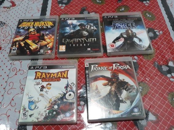Lote 5 Jogos Rayman+starwars+ Dukenukem+quantum+prince Ps3