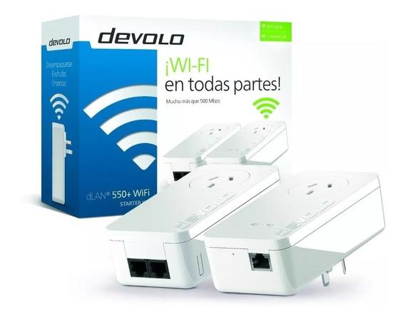 Repetidor Wif Amplificador Devolo Starter Kit Plc Dlan 550ex