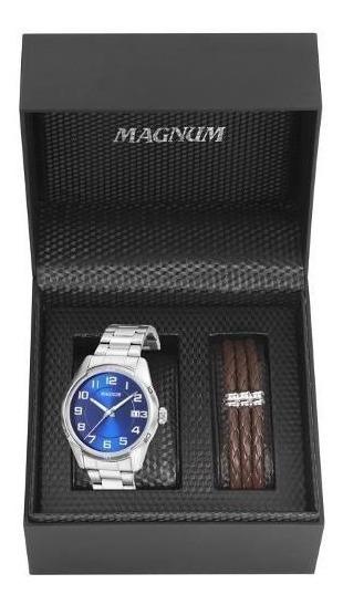 Relogio Magnum Masculino Prata - Ma34272o
