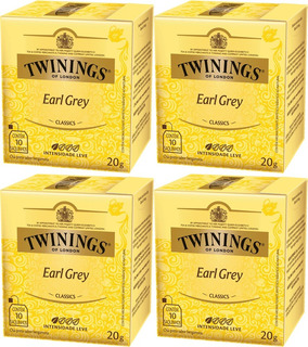 Twinings Of London Chá Preto Earl Grey 4cxs 40sachês