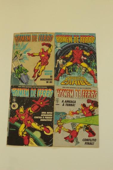 Hq Homem De Ferro Mini-serie Completa 4 Edições Ed. Abril
