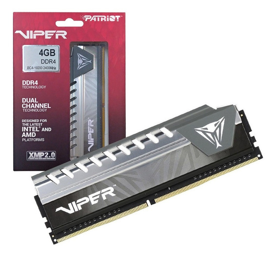 Memoria Pc Ddr4 4gb 2400mhz Cl16 Patriot Viper Elite Grey