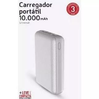 Carregador Portátil Universal 10000 Mah Branco - Xtrax