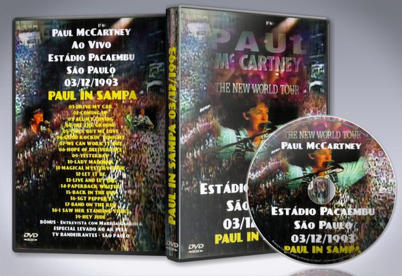 Dvd Paul Mccartney - Estadio Pacaembu, Sao Paulo