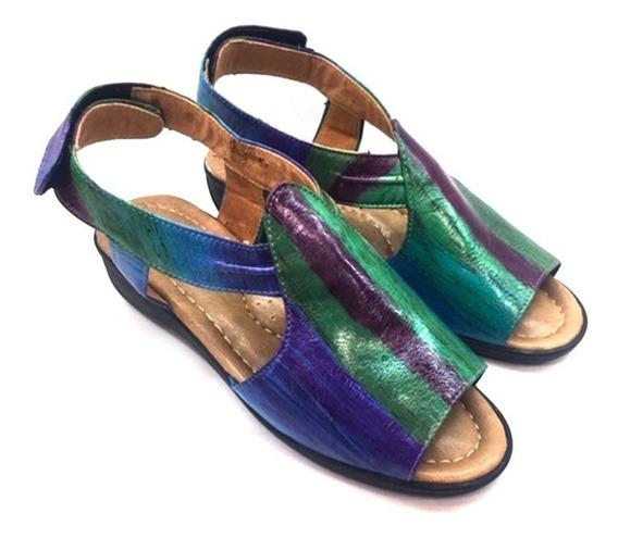 Sandalias Para Dama 5r/azul