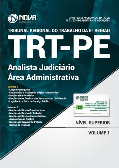 Apostila Trt-pe 2018 - Analista Judiciário - Área Administra