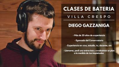 Clases De Batería Villa Crespo Ó A Domicilio - Profesional
