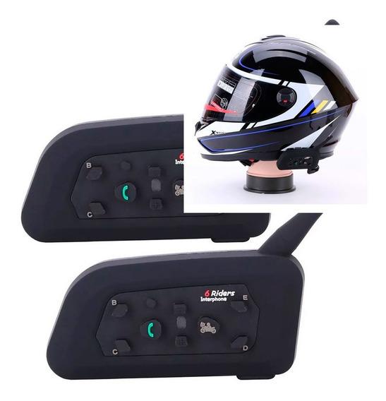 Intercomunicador Capacete Comunicador Moto V6 Plus Celular