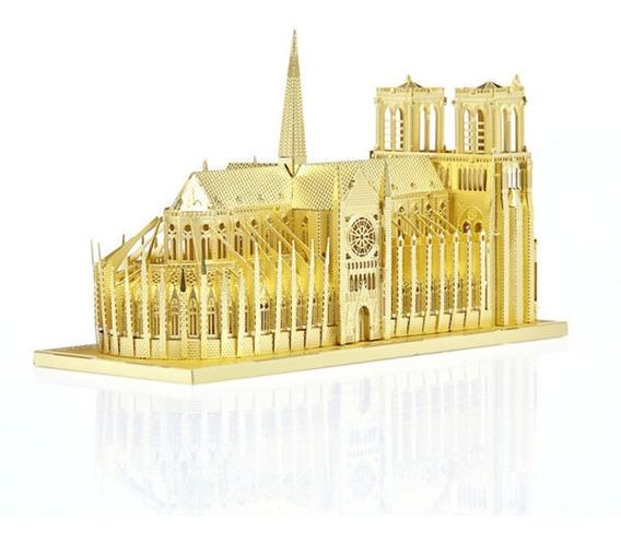 Oro Notre Dame De París Diy 3d Modelo Vaivén