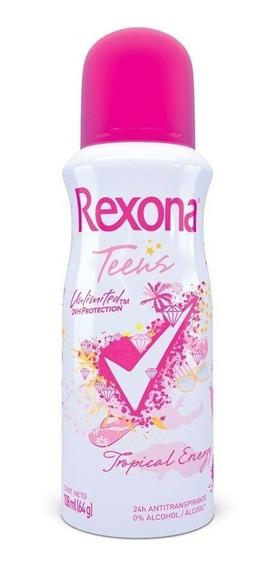 Desodorante Aerosol Rexona Teens Tropical Energy 60g