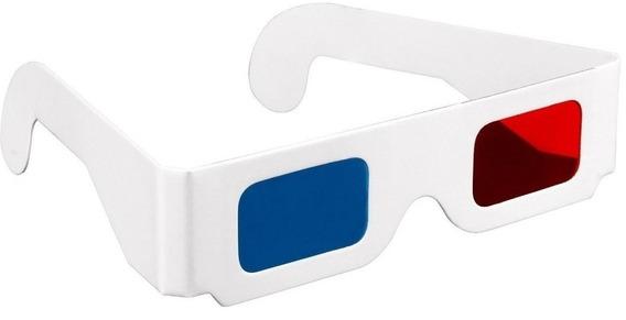 Óculos 3d Anaglífico (p/ Youtube, Filmes, Dvds, Bds, Revistas Estórias Em Quadrinhos Hq, Gibi, Videos, Games) Sexta 13 3