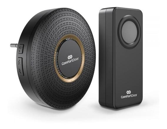 Campainha Wireless Sem Fio Preta Bivolt Comfort Door
