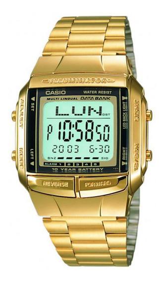 Relogio Dig Casio Databank Db 360g-9 Dourado Nfe Original