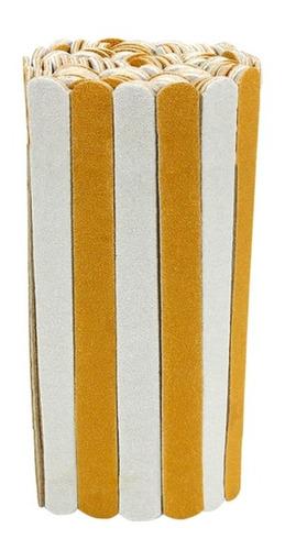 Imagem 1 de 4 de Lixa Para Unha Descartável De Manicure Pedicure 10 Cm 300 Un