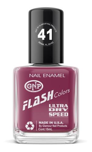 Imagen 1 de 4 de Esmalte Flash Colors De Gnp 15ml Nro.41