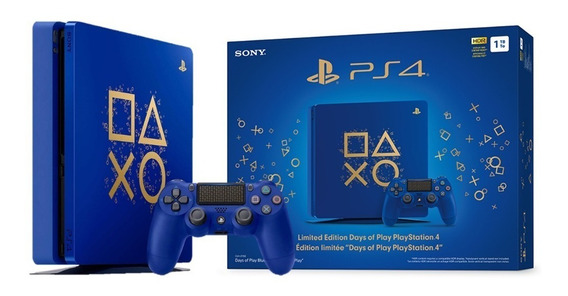 Playstation 4 Edicion Limitada Days Of Play Azul 1tb