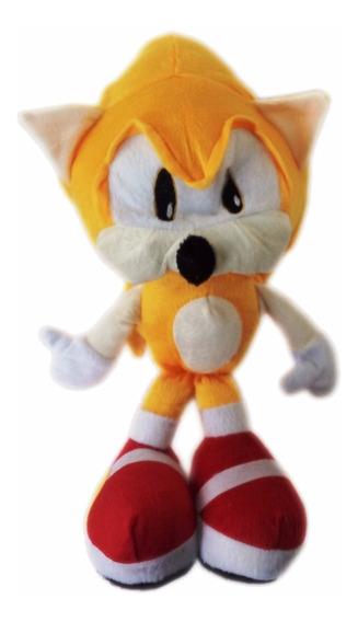 Pelúcia Do Sonic Hedgehog Super Sonic 35cm + Brinde
