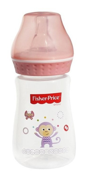 Biberon Para Bebé 4oz (125 Ml) Regular Rosa Fisher Price