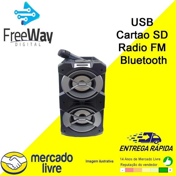 Caixa De Som Ecopower Ep-2233 - Usb Cartao Sd Radio Fm E Bt