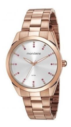 Relógio Mondaine Feminino Original 53672lpmvre4 Rosê + Nfe