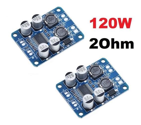 2 Amplificador 60w Rms Alta Eficiência 2ohm 3a Tpa3118