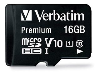 Tarjeta de memoria Verbatim 44082 Premium con adaptador SD 16GB