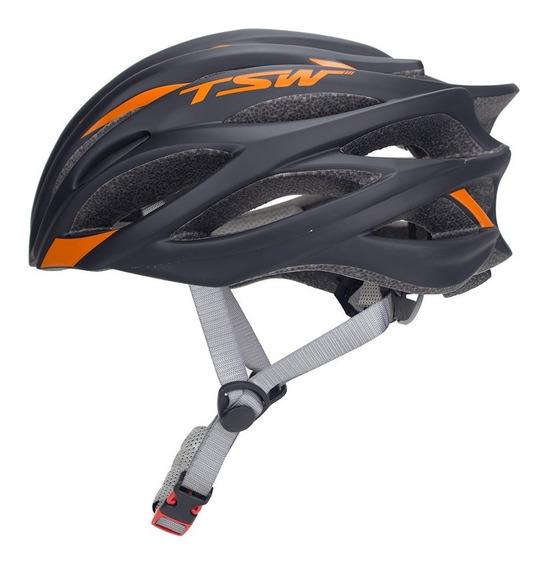 Capacete Tsw Ciclismo Speed Team Sem Viseira Tam G Cores
