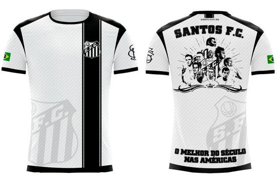 Camiseta Santos Ídolos Branca