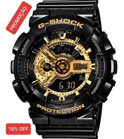 Relógio Casio G-shock Ga-110gb Preto Dourado Original