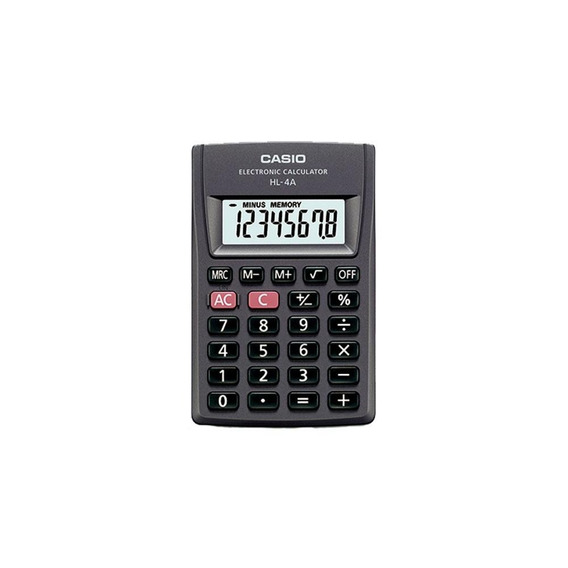 Paquete De 10 Calculadoras Portátil Casio Hl-4a