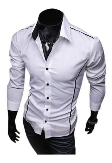 Camisa Casual Slim Manga Longa Promoção Envio Imediato
