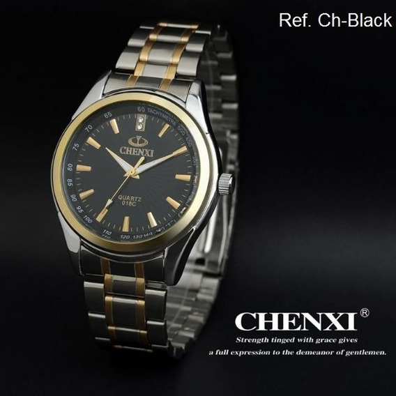 Relógio Masculino Chenxi Puseira Aço Inox Prova De Água 30m