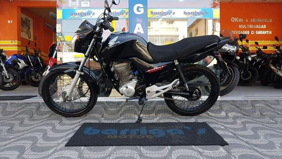Honda Cg 160 Start 2016 Preta Única Dona