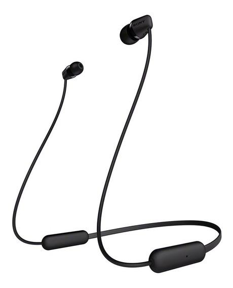 Fone De Ouvido Sony Wi-c200 Intra Auricular Bluetooth Preto