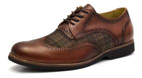 Sapato Masculino Social Oxford Couro Tamanho Especial 681411