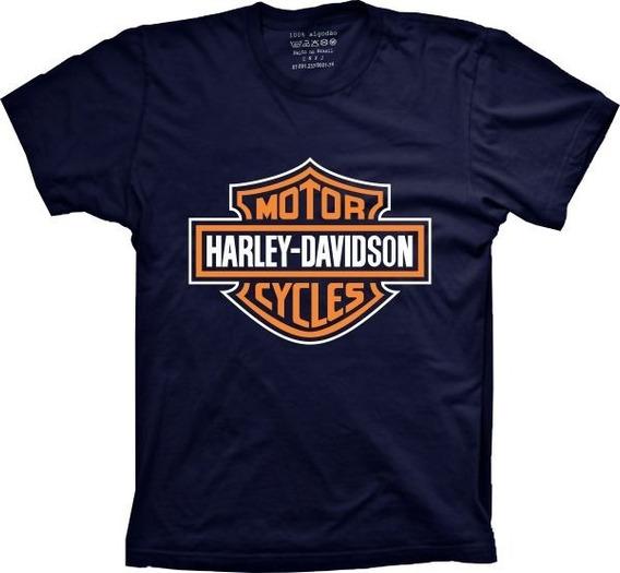 Camiseta Masculina Harley Davidson Tamanhos Especiais Cores